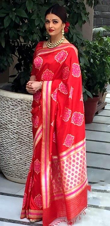 Aishwarya Rai Bachchan In Red Saree