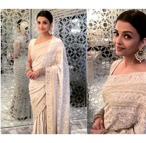 Aishwarya Rai Bachhan In A White Saree