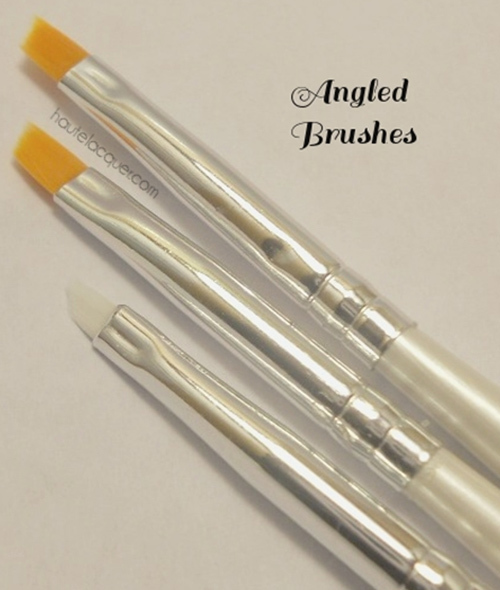 angled nail art brush