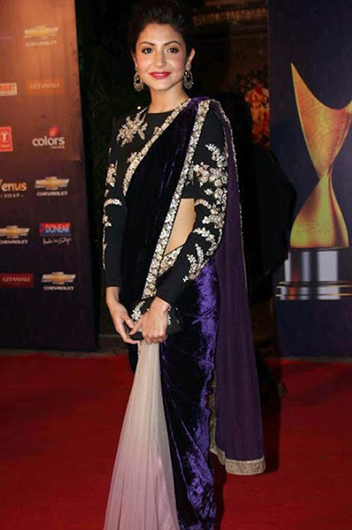 Anushka-Sharma-In-Velvet-Saree