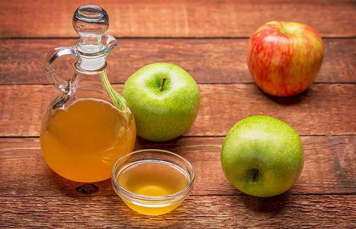 . Apple Cider Vinegar AndRose Water For Acne