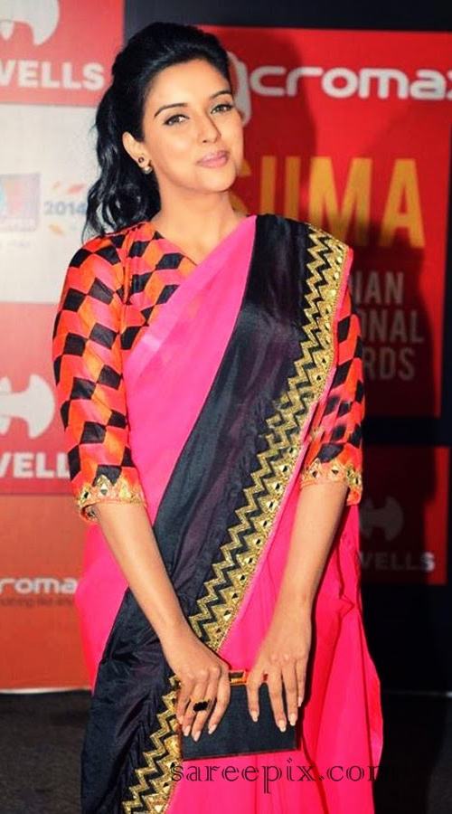 Asin In Pink Saree