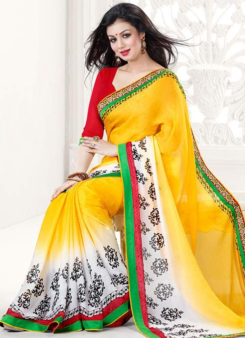 Bollywood Actress Ayesha Takia In Yellow Saree