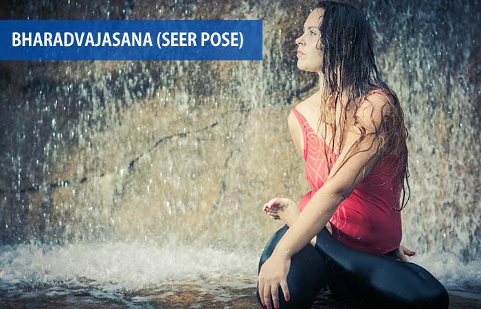 2. Bharadvajasana (Seer Pose)