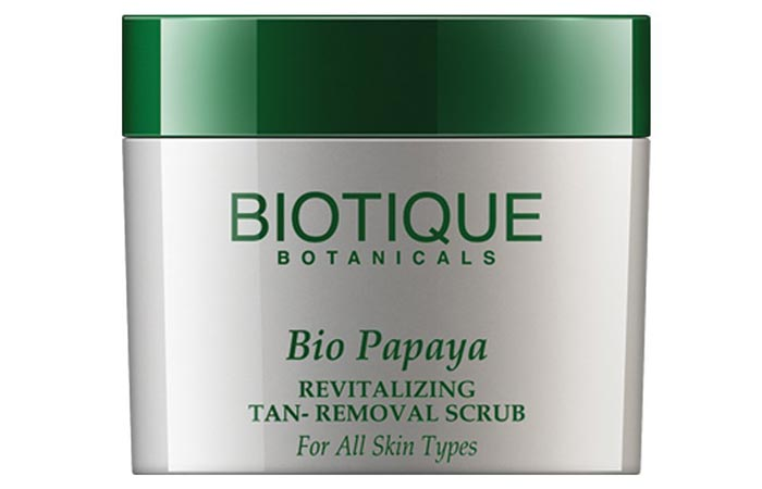 Biotique Bio Papaya Revitalizing Tan Removal Scrub - Scrubs To Get Rid Of Blackheads
