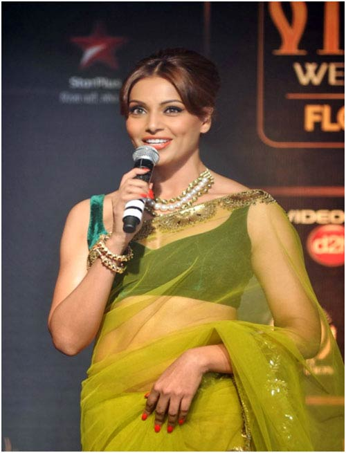Bipasha Basu In A Green Saree