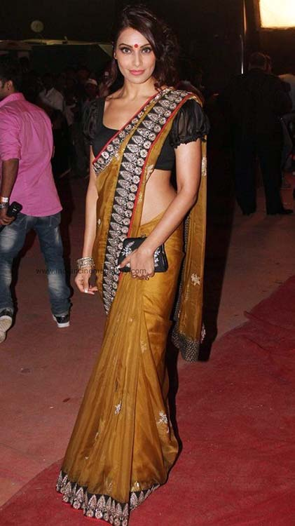Bipasha Basu In Brown Saree
