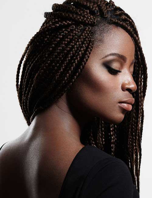 Black Braids Weave Style