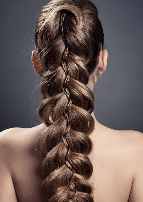 Latest Hairstyles For Long Hair - Braided Ponytail