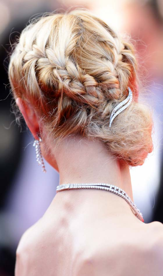 Braided-V-Bun
