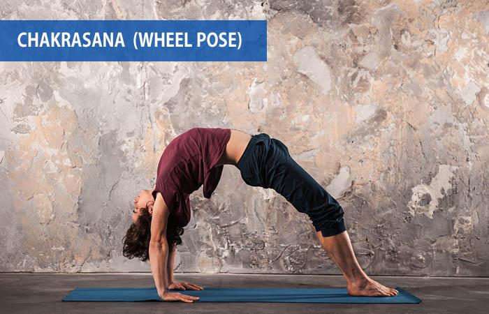 5. Chakrasana (Wheel Pose)