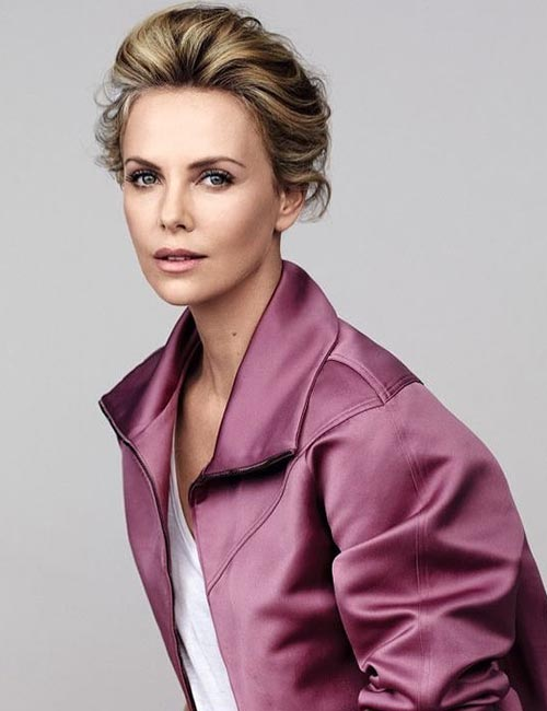 Charlize Theron – Bun With A High Puff