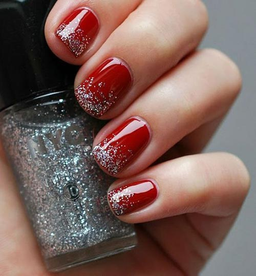 Christmas Nails With Glitter: Step By Step Tutorials For