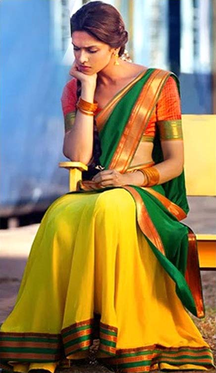 Deepika-Padukone-In-Chennai-Express-In-A-Half-Saree-photo