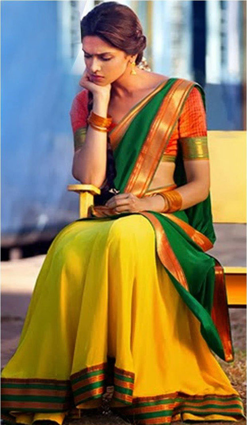 Deepika Padukone Half Saree In Chennai Express Movie
