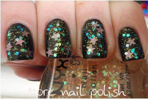 nyx cream glitter nail polish