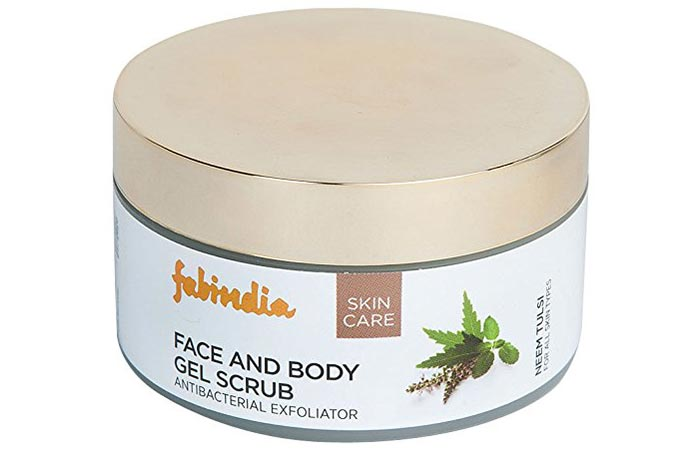Fabindia Neem Tulsi Face and Body Gel Scrub - Scrubs To Get Rid Of Blackheads