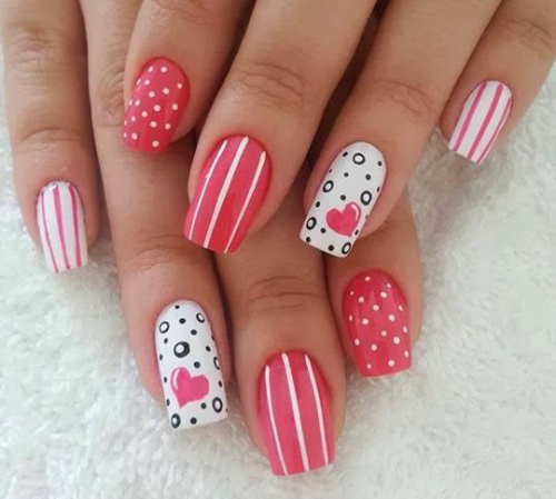 Fizzy Hearts Nail Art