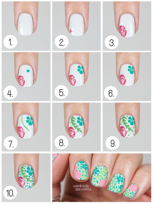Floral Fun Nail Art