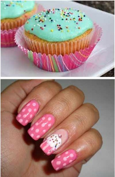 food nail art tutorial