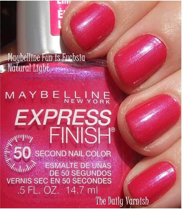 maybelline nail polish shades
