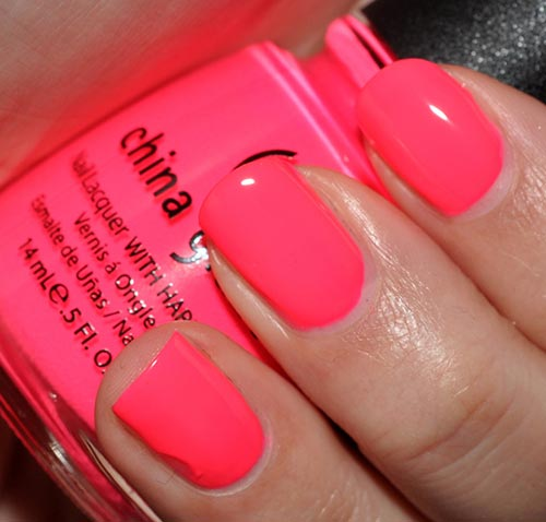 Neon Orange Nail Polish China Glaze Absolute Cycle
