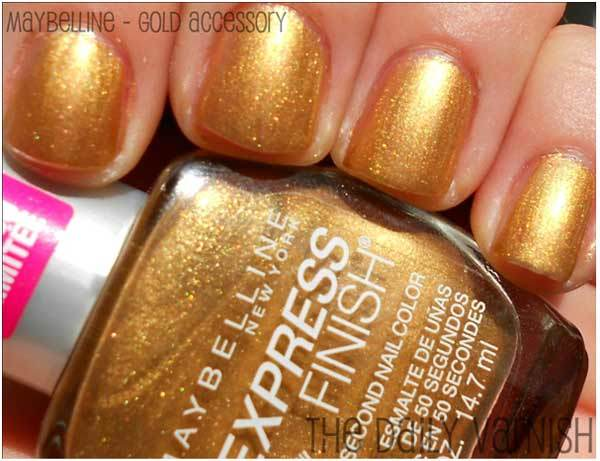 maybelline gold accessory
