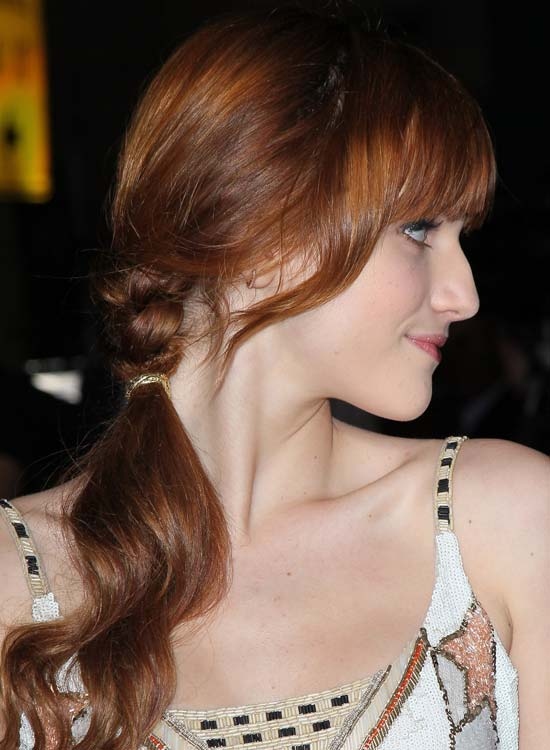 Half-Braided-Wavy-Ponytail-with-Side-Bang