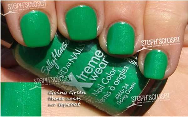 sally hansen going green swatch