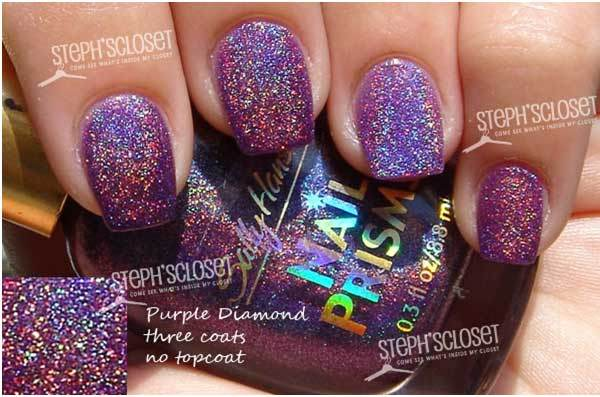 sally hansen purple diamond swatch