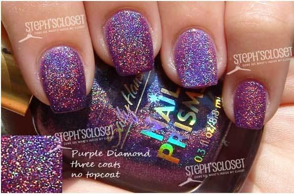 sally hansen purple diamond swatch