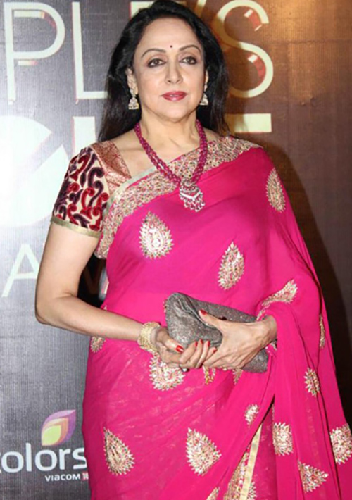 Bollywood Beauty Hema Malini In Silk Saree