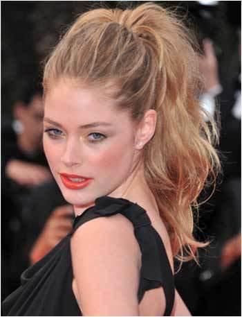High ponytail hairstyle Dark brown hairstyles