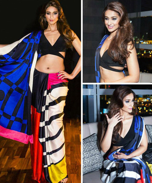 Ileana D'Cruz In Multicolored Saree