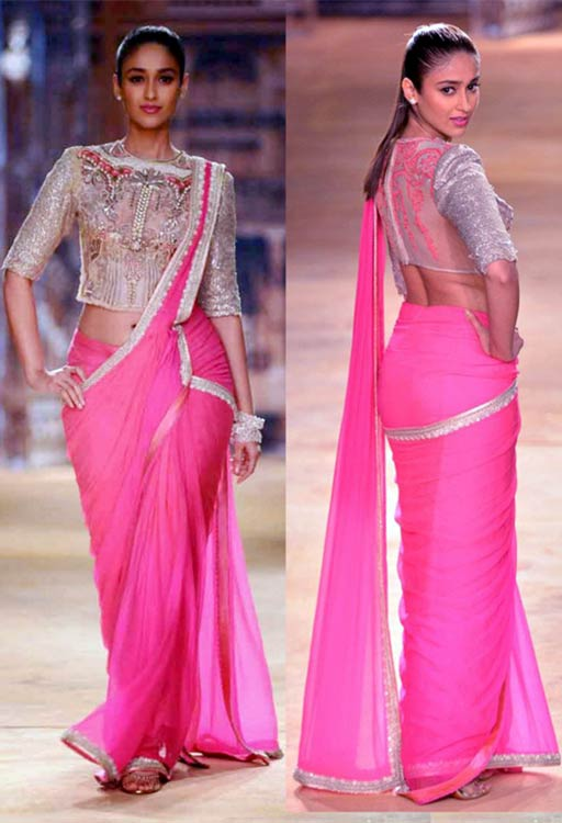 Ileana D'Cruz In Pink Saree