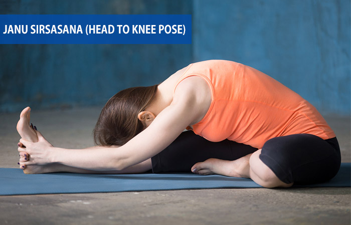 3. Janu Sirsasana (Head To Knee Pose)