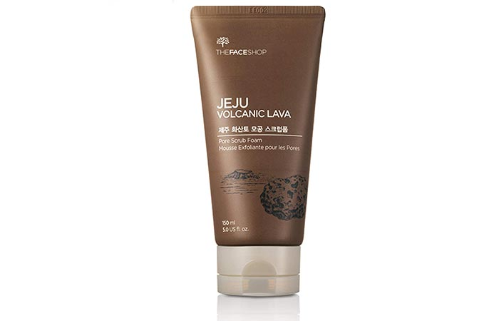 Jeju Volcanic Lava Pore Scrub Foam - Scrubs To Get Rid Of Blackheads