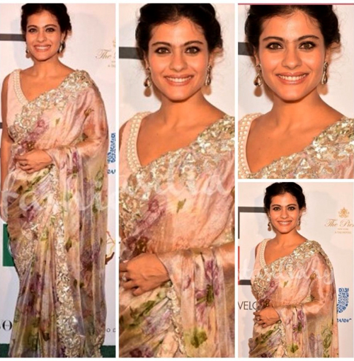 Kajol In Floral Saree