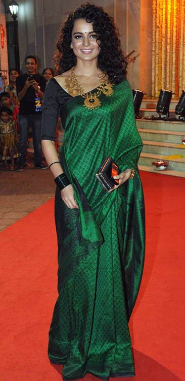 Kangana Ranaut In Green Saree