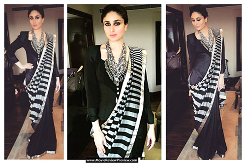 Kareena Kapoor In A Monochrome Saree