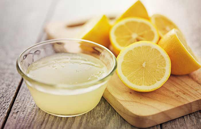 . Lemon Juice AndRose Water For Acne