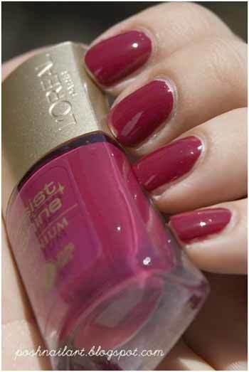 Loreal Deep Geranium nail makeup