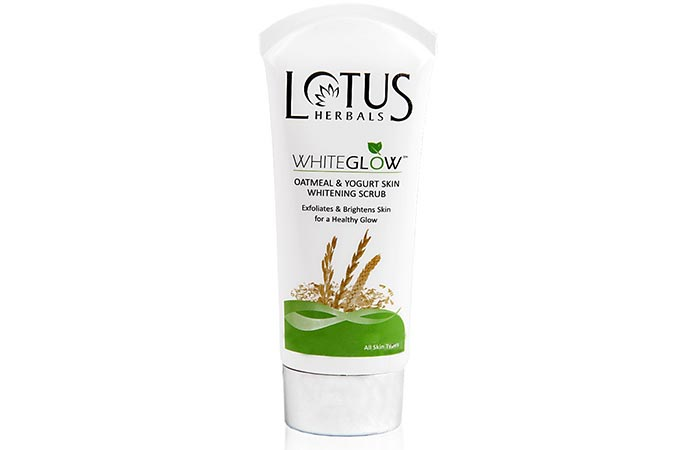 Lotus Whiteglow Oatmeal and Yogurt Skin Whitening Scrub - Scrubs To Get Rid Of Blackheads