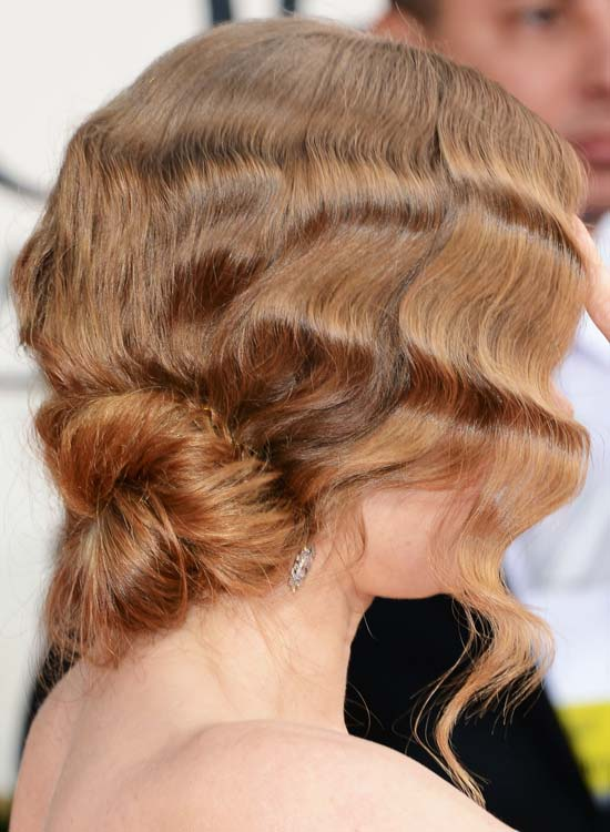 Low-Twisted-Bun-with-Textured-Wavy-Bang
