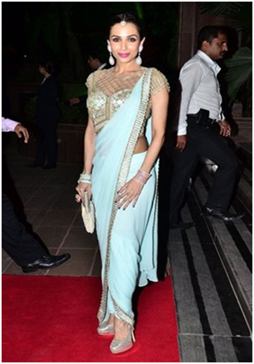 Malaika Arora In Blue Saree