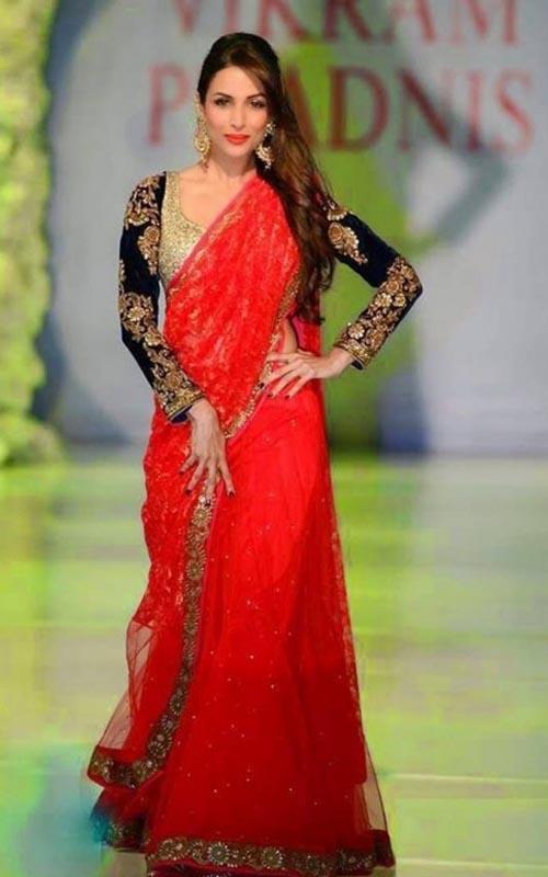 Malaika Arora Khan In Red Saree