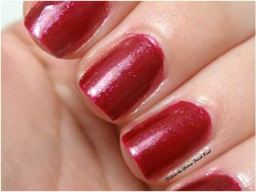 Merlot Red for nails