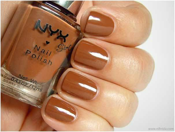 NYX Dark Beige nail polish