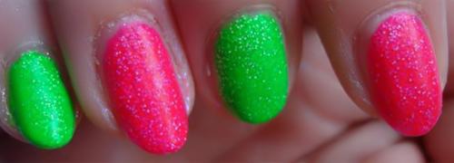 neon glitter nail polish