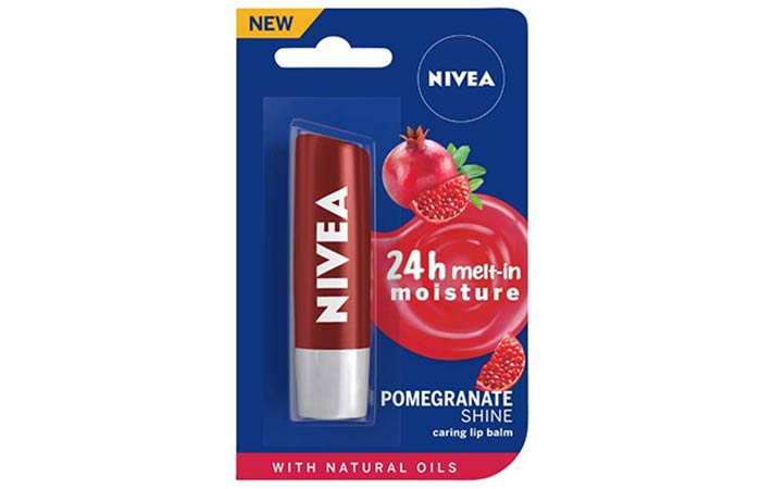 Nivea Pomegranate Shine Caring Lip Balm